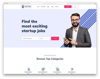 JobFinderPortal Free Template