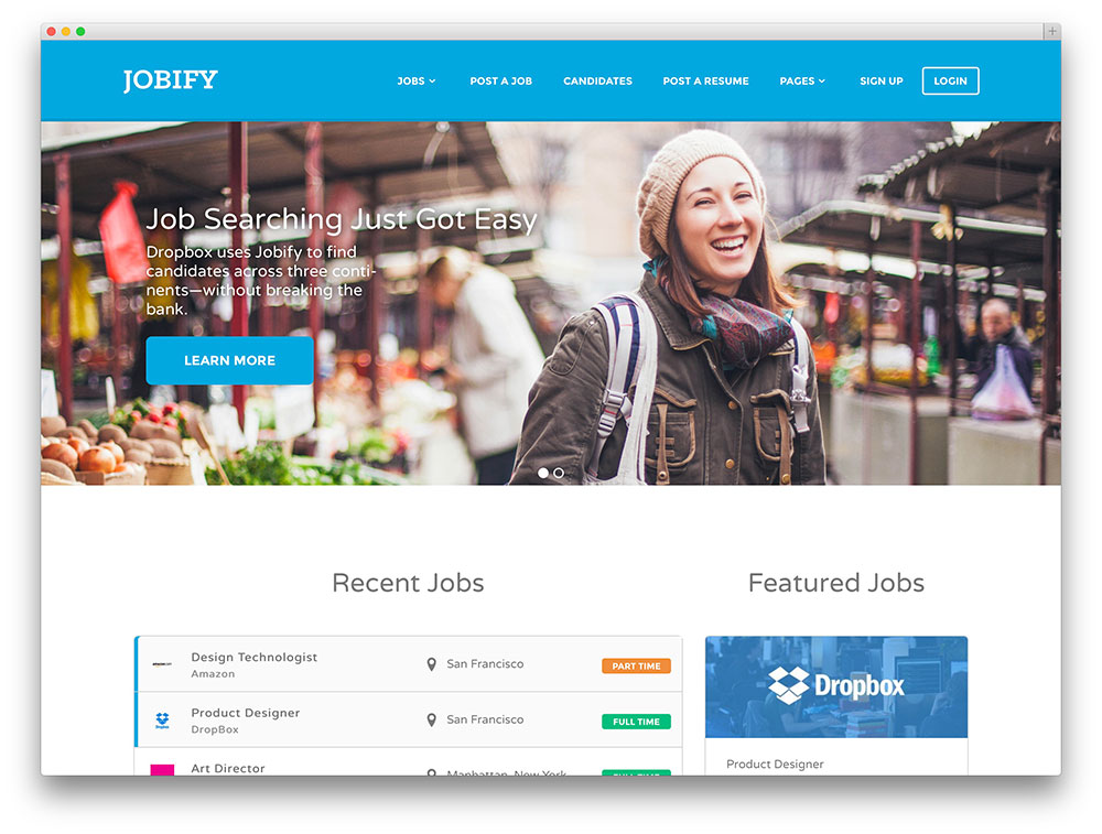 jobify - most popular job board theme