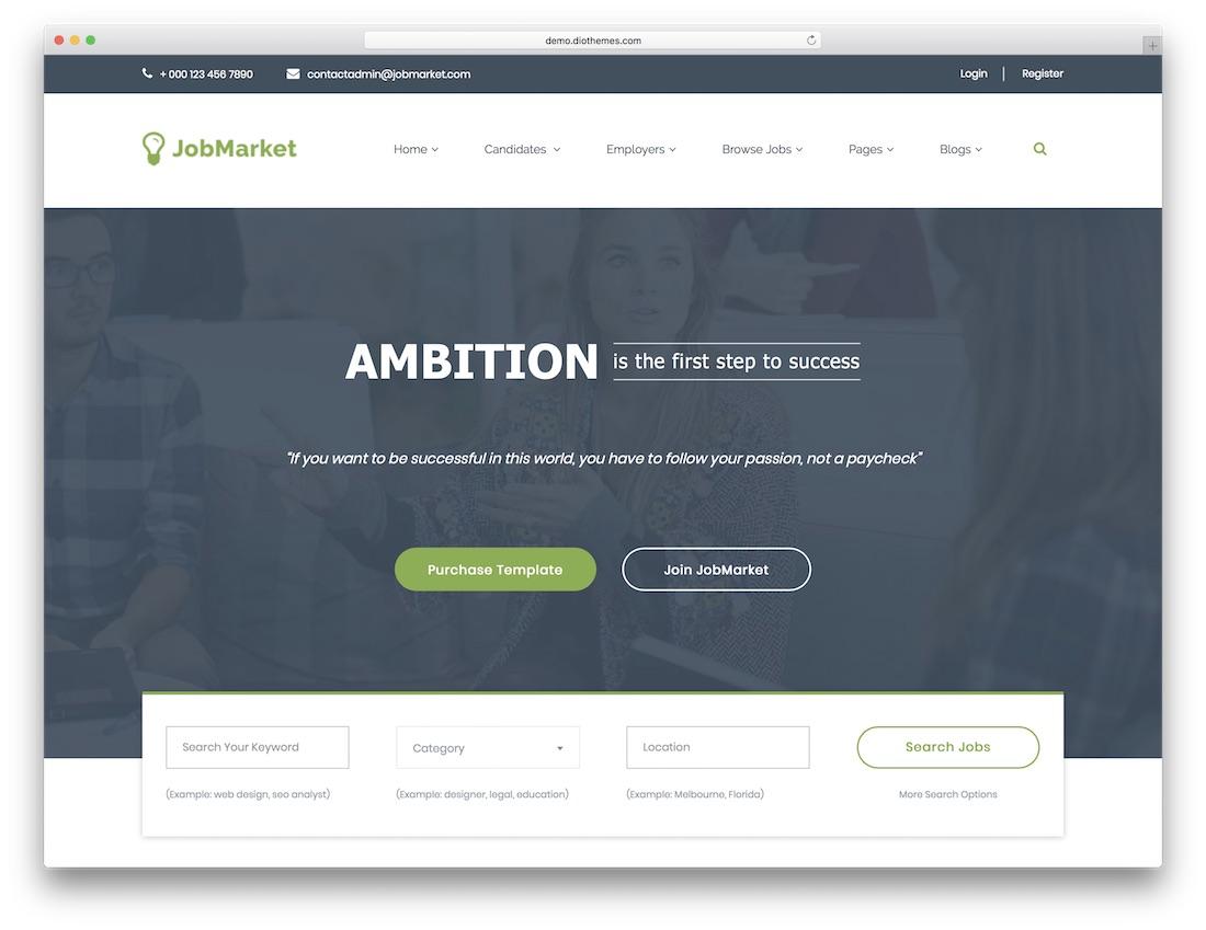 jobmarket html5 website template