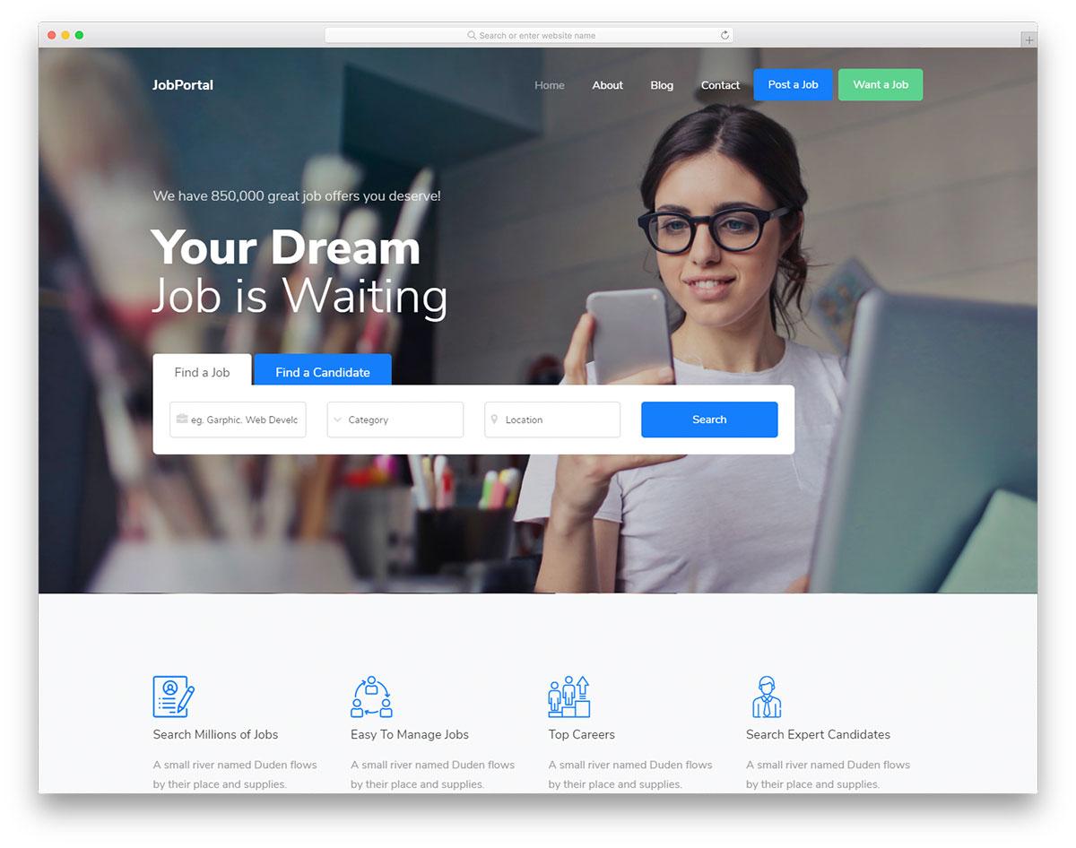 Jobportal Free Template