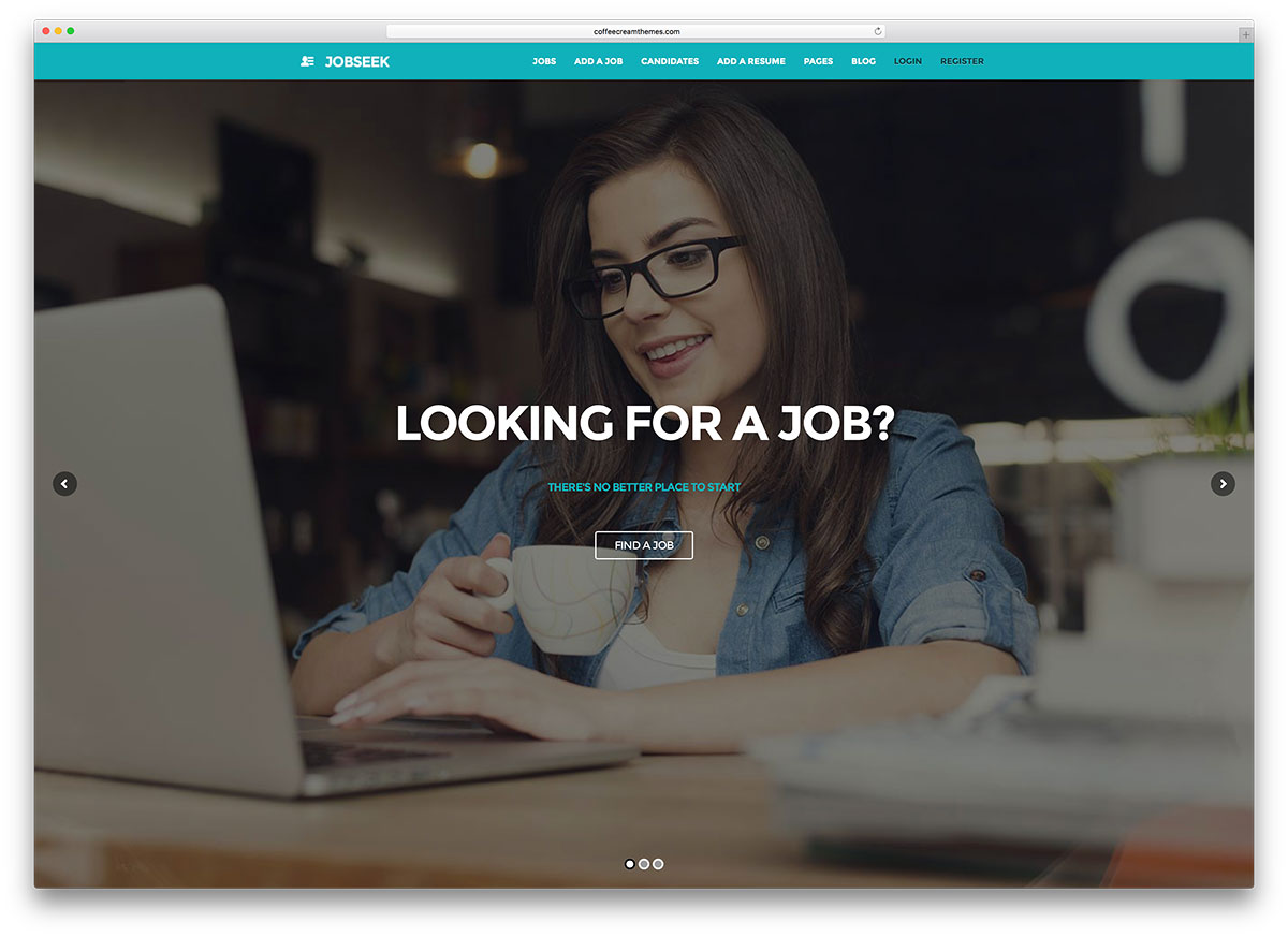 Jobseek Simple Fullscreen Jobboard Websie Template  Top Resume Sites