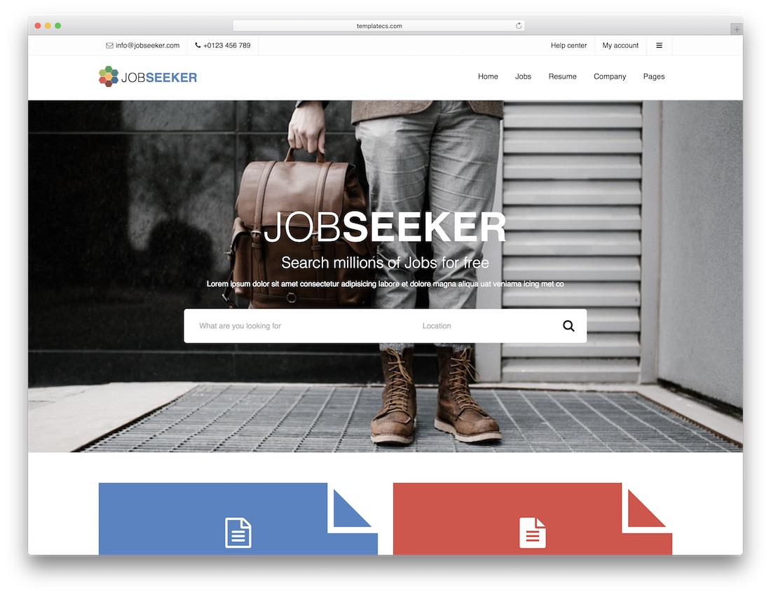 jobseeker html5 website template