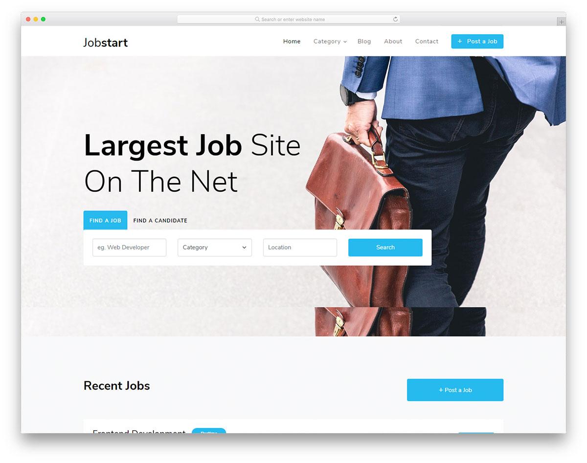 Скачать бесплатно html шаблон Jobstart