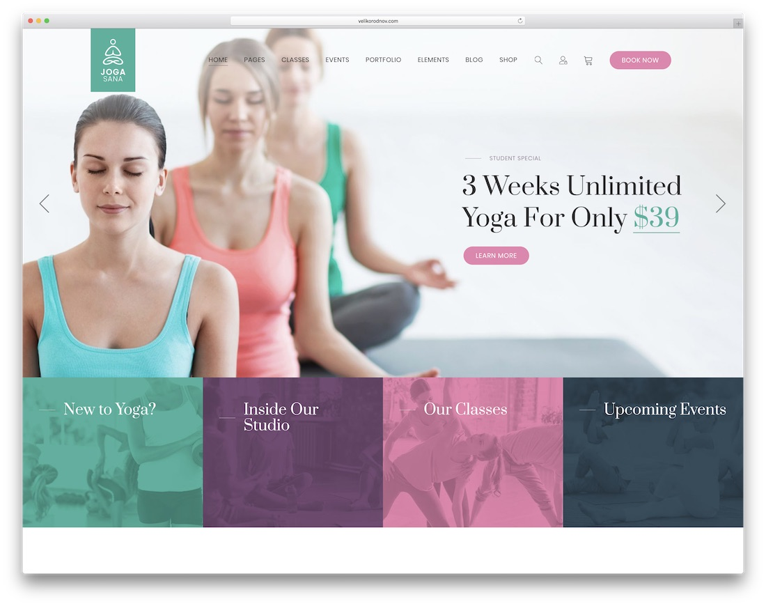 jogasana community website template
