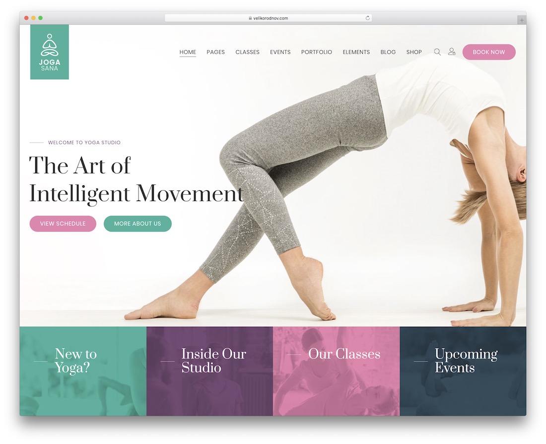 jogasana yoga wordpress theme