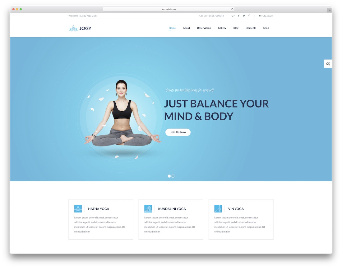 jogy physiotherapy chiropractor wordpress theme