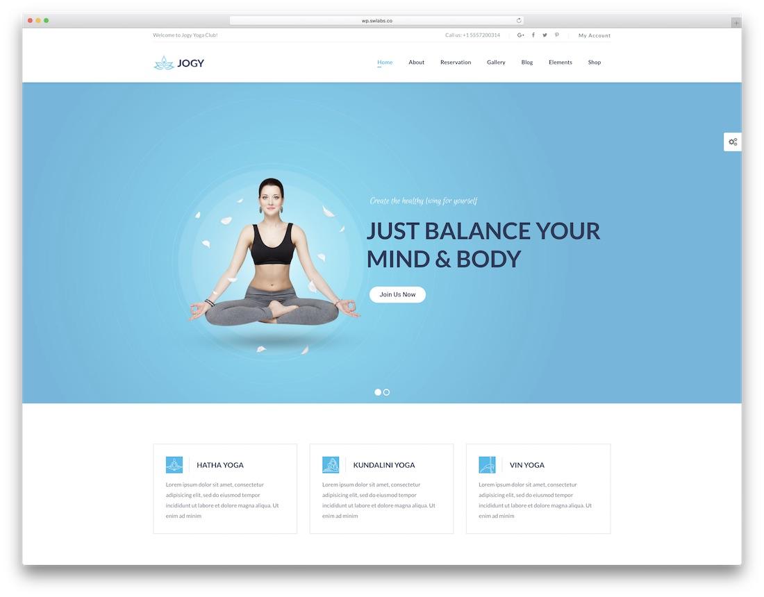 jogy physiotherapy chiropractor wordpress theme
