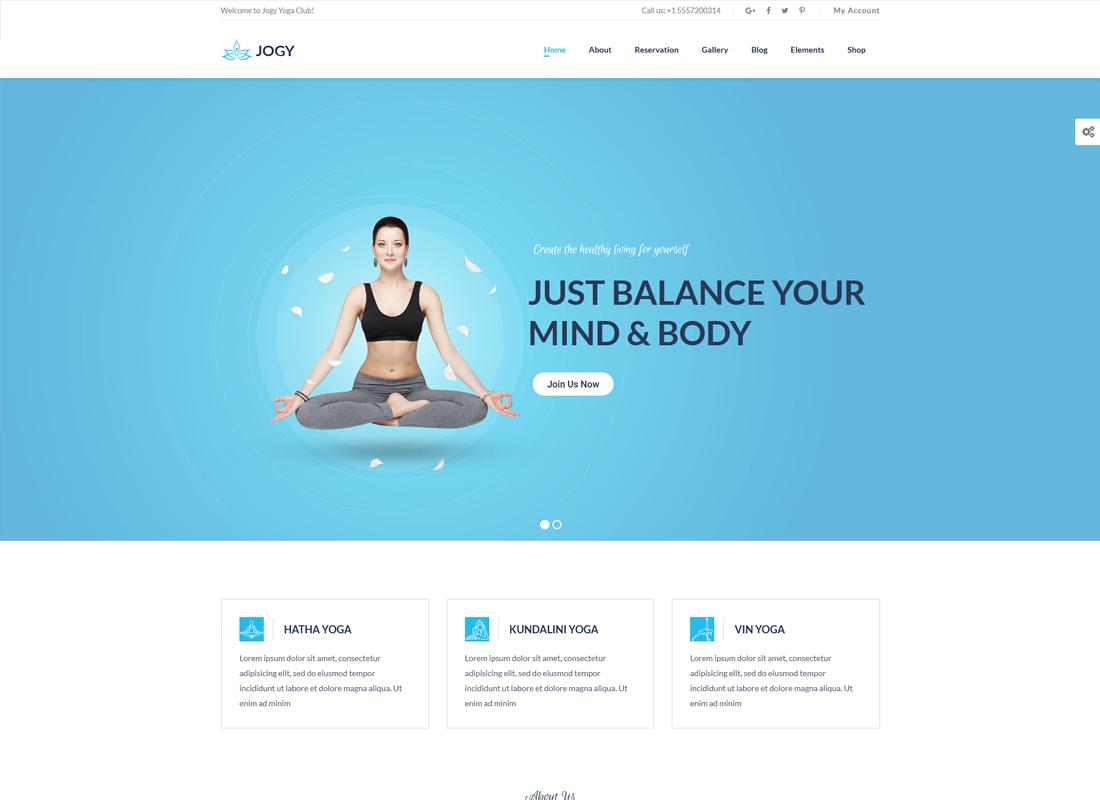 Jogy | Yoga & Spa Center WordPress Theme