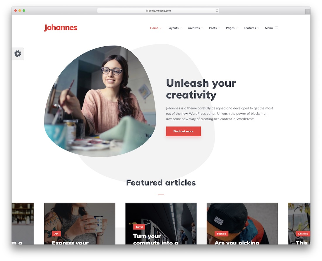 johannes writer website template
