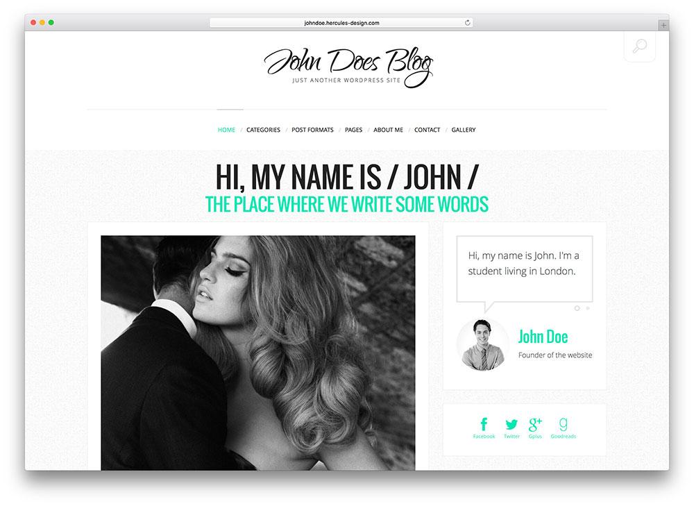 john-does-minimal-blog-theme