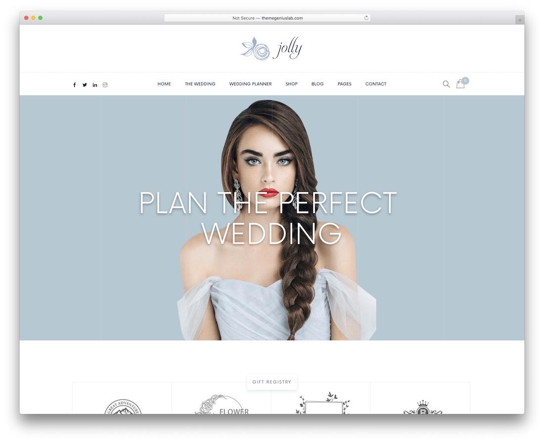 jolly event planner wordpress theme