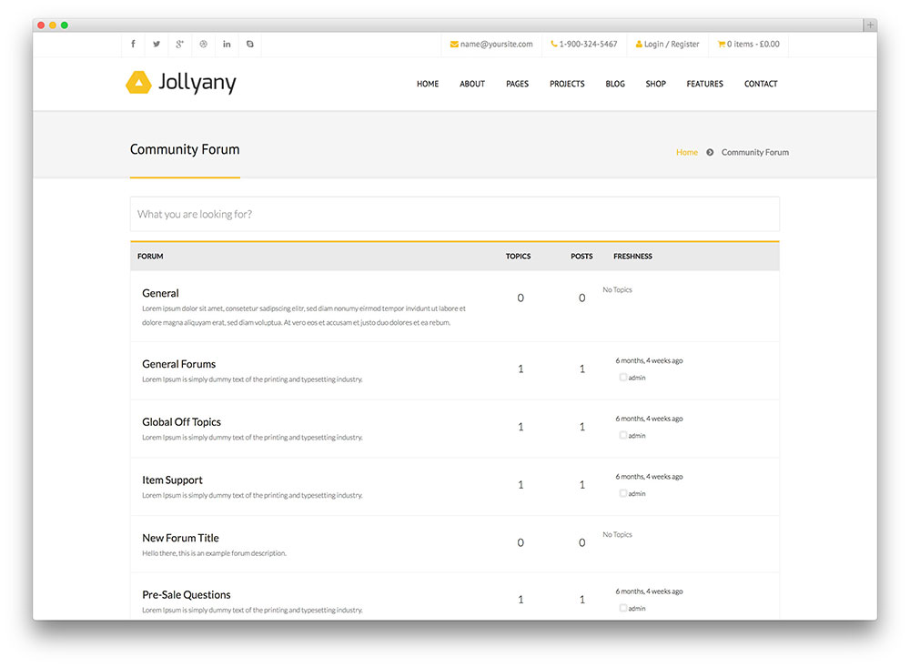 jollyany - corporate WordPress theme