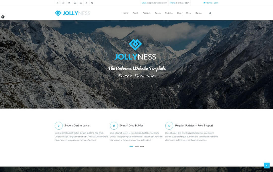 jollyness drupal business template