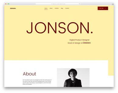Jonson Free Template