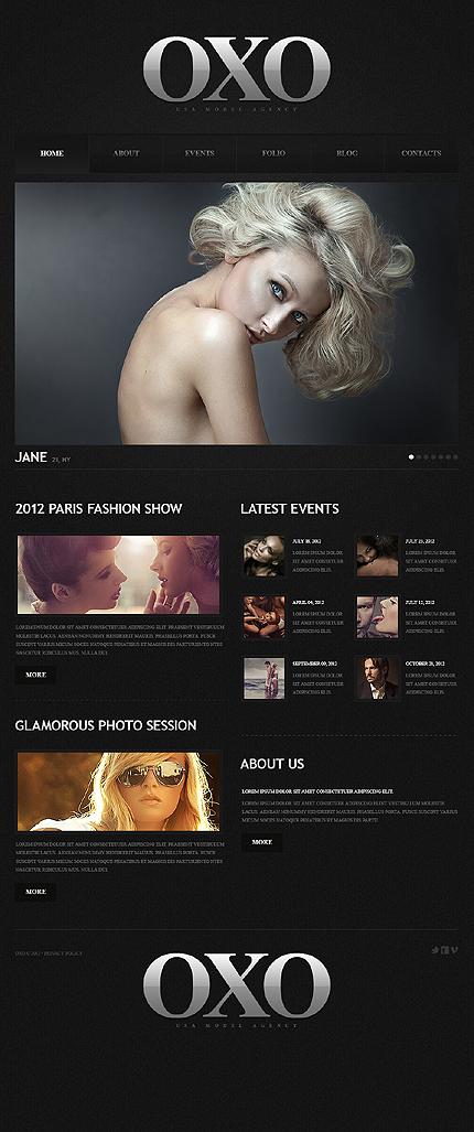 Fashion Model Portfolio Joomla Template