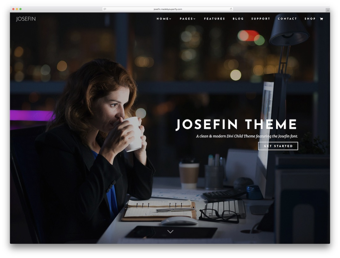 josefin responsive divi child theme