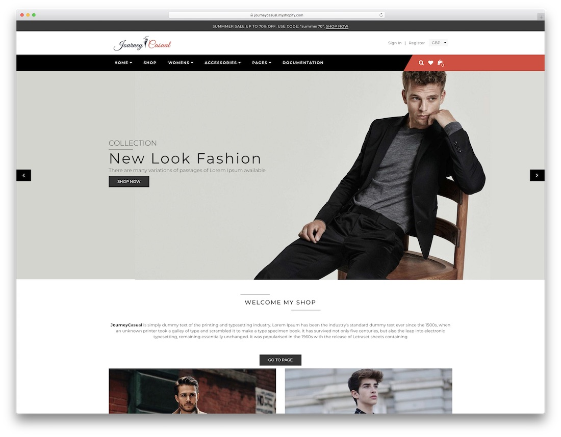 journey casual fashion shopify theme