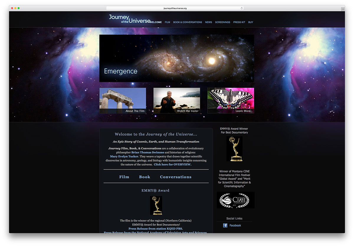 journeyoftheuniverse-enterntainment-website-example-squarespace