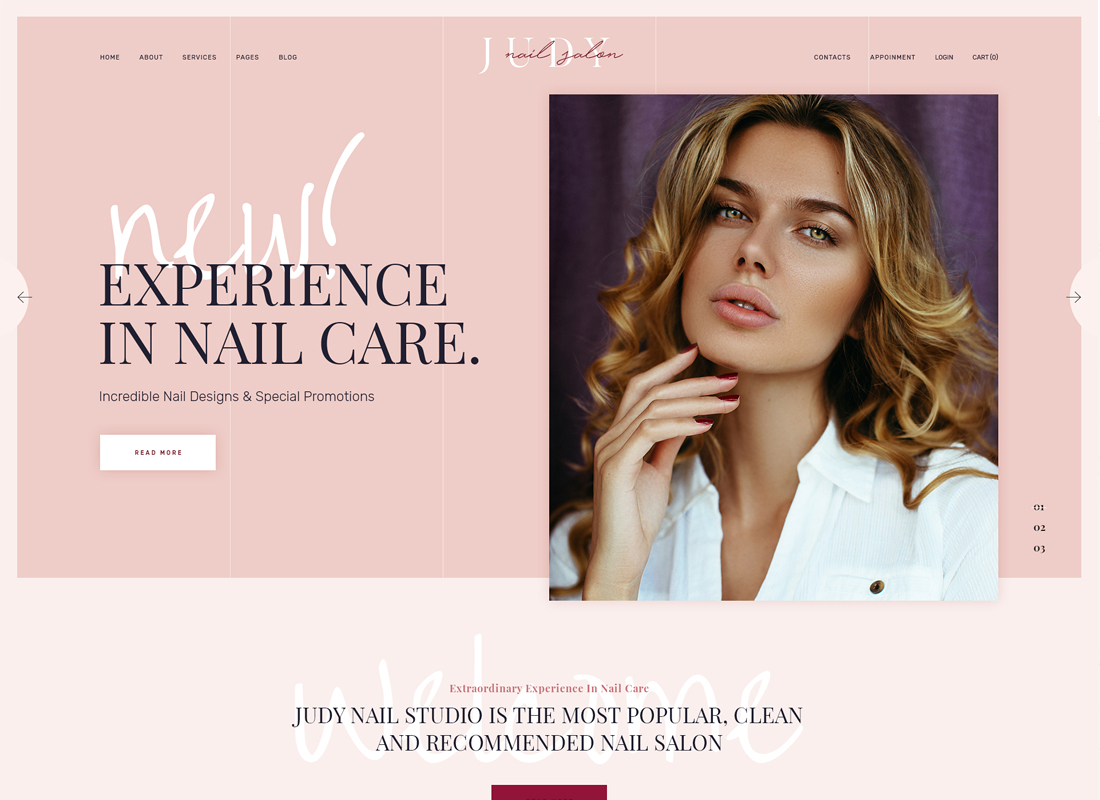 Jude - Nail Bar & Beauty Salon WordPress Theme