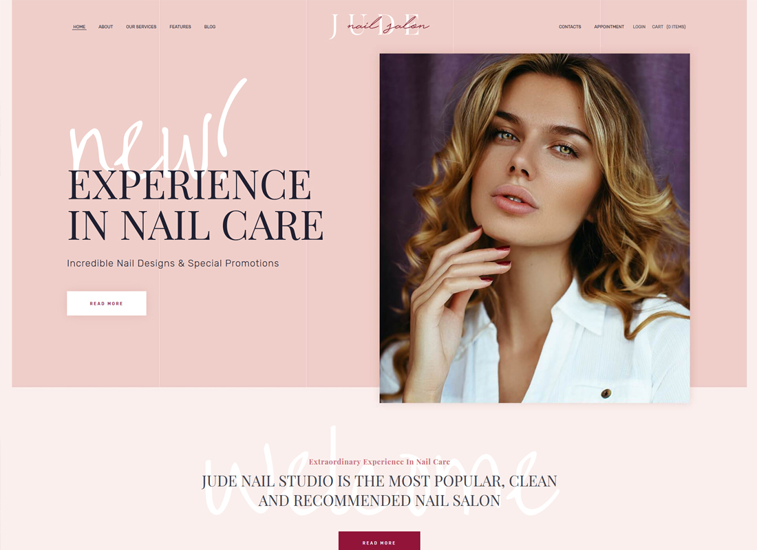 Jude | Nail Bar & Beauty Salon WordPress Theme