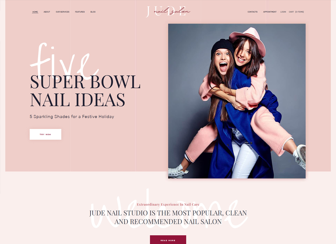 Jude - Nail Bar & Beauty Salon WordPress Theme