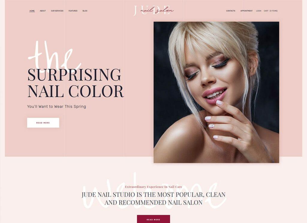 Jude | Nail Bar & Beauty Salon WordPress Theme