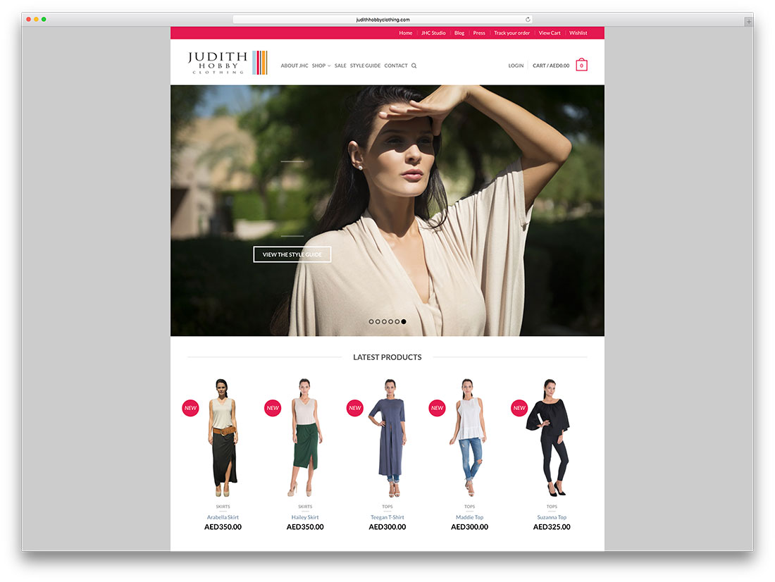 judithhobbyclothing-creative-woocommerce-site