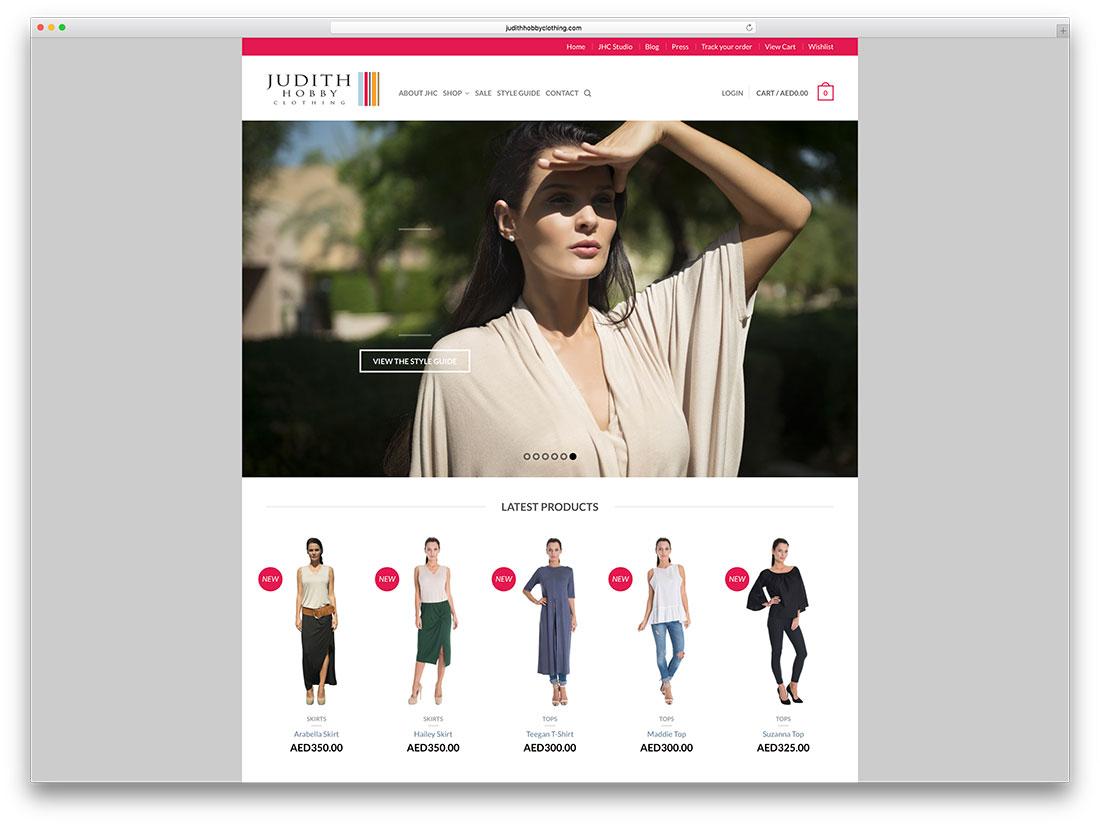 judithhobbyclothing-creative-woocommerce-site