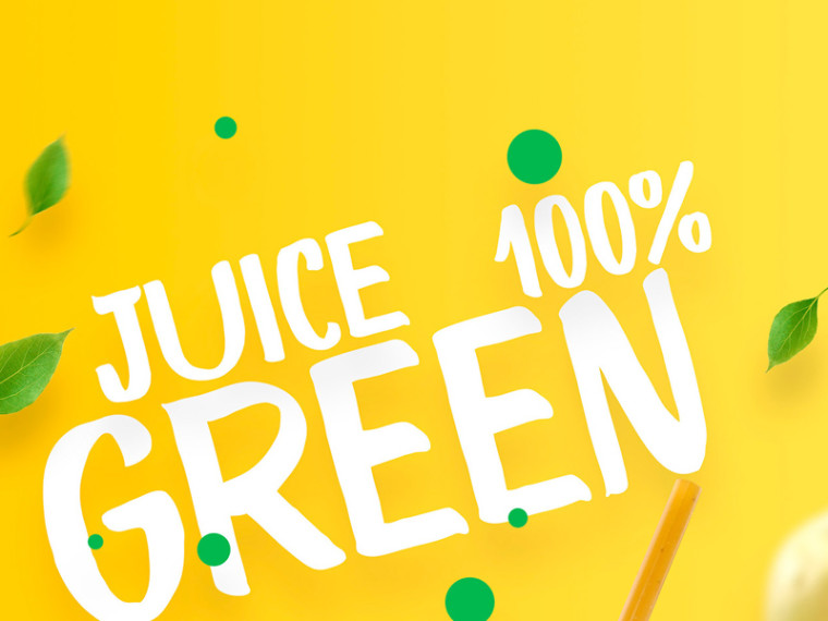 juice poster template