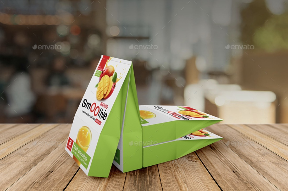 juice pouch mockup