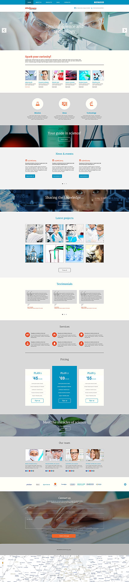Science Lab WP Theme