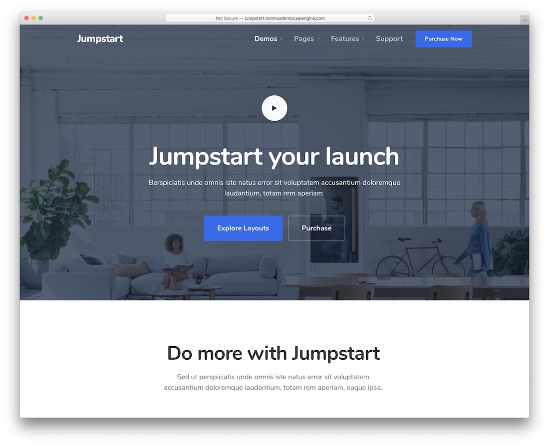jumpstart software company website template