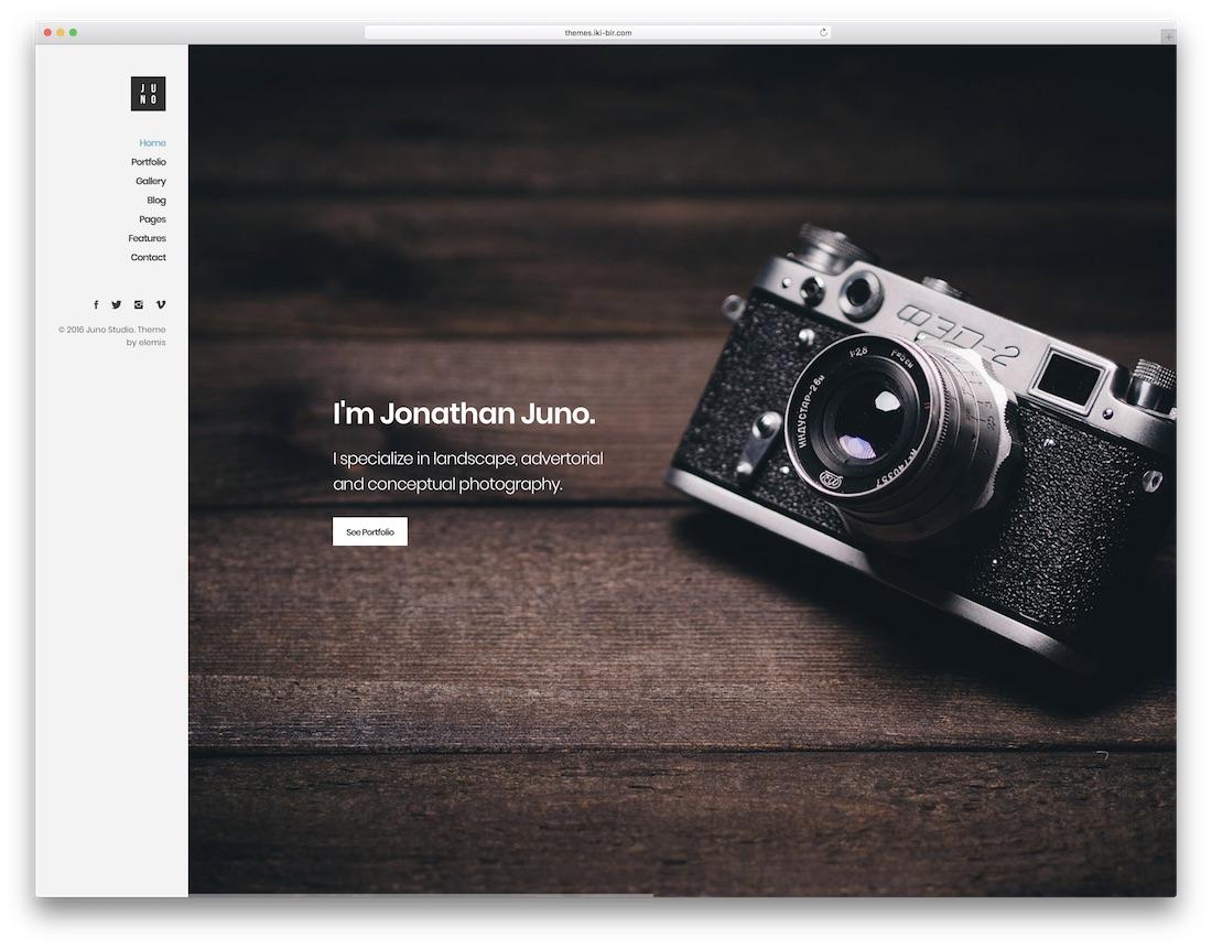 juno freelancer website template