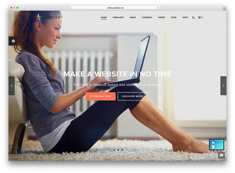 jupiter-beautiful-fullscreen-wordpress-theme