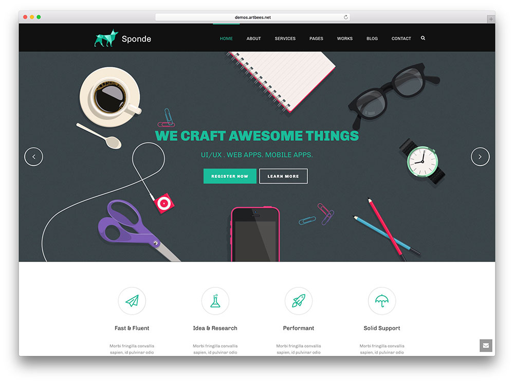 jupiter-creative-static-website-wp-theme