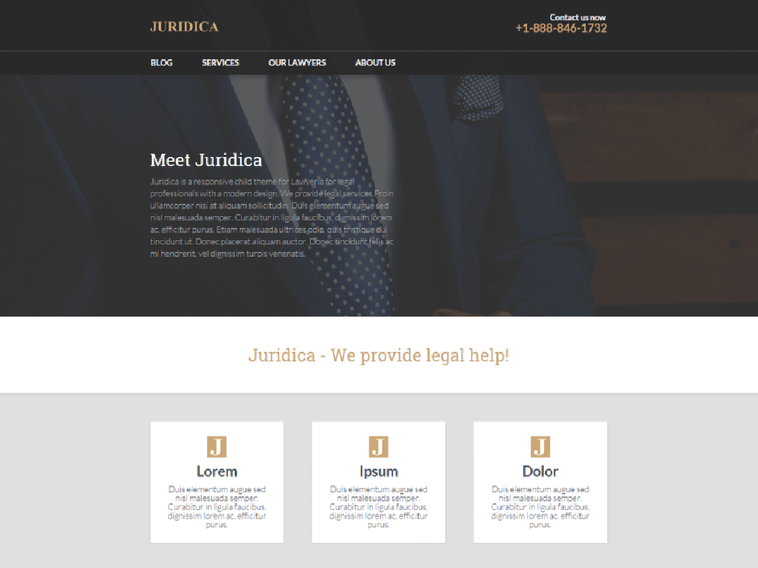 Juridica WordPress Theme for Law Websites