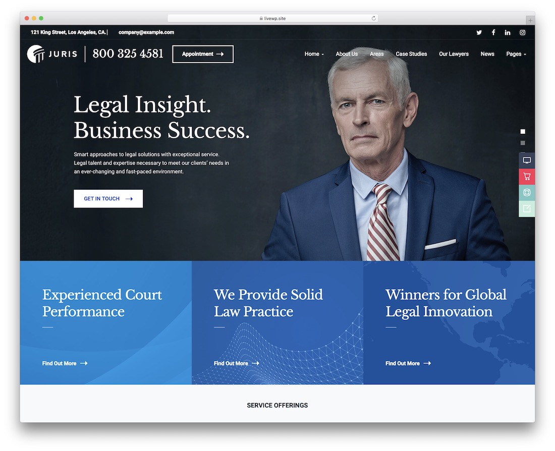 juris lawyer wordpress theme