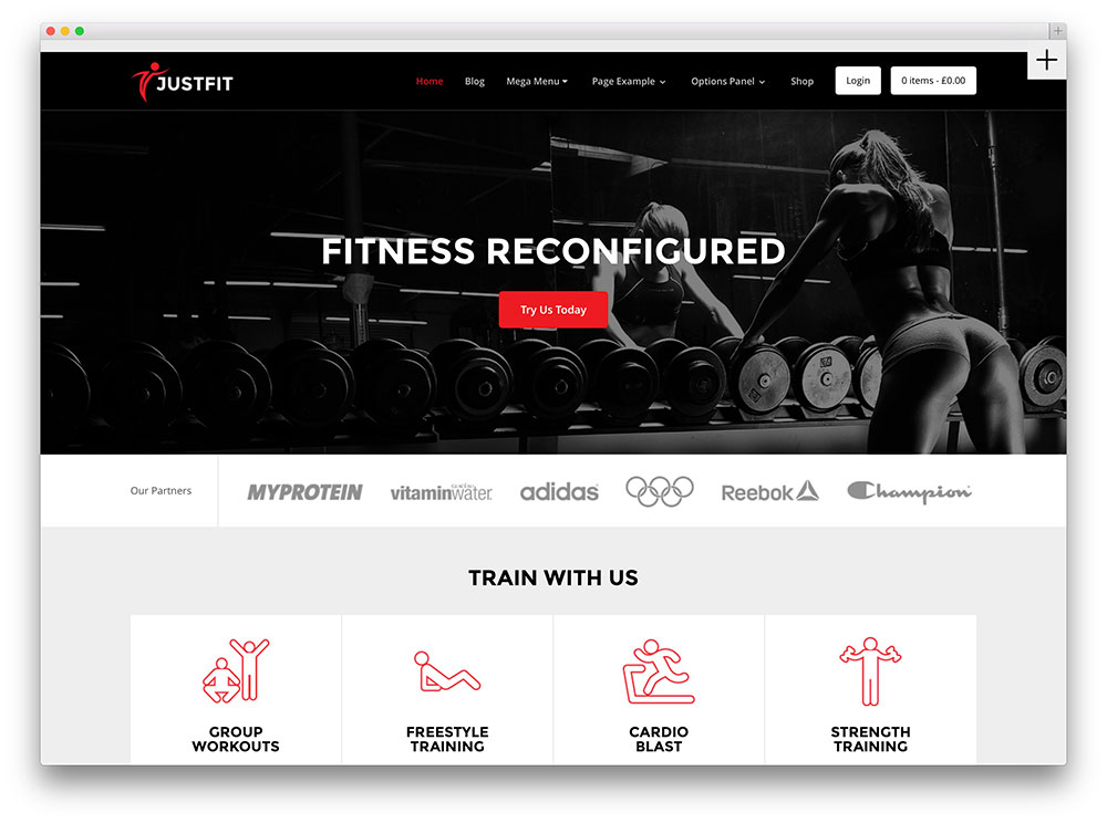 30 best wordpress fitness themes 2018 for gym and fitness Website home image