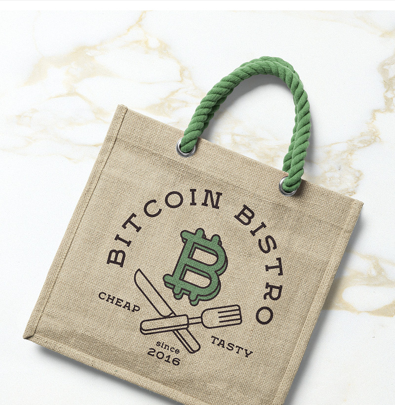jute made free tote bag mockup