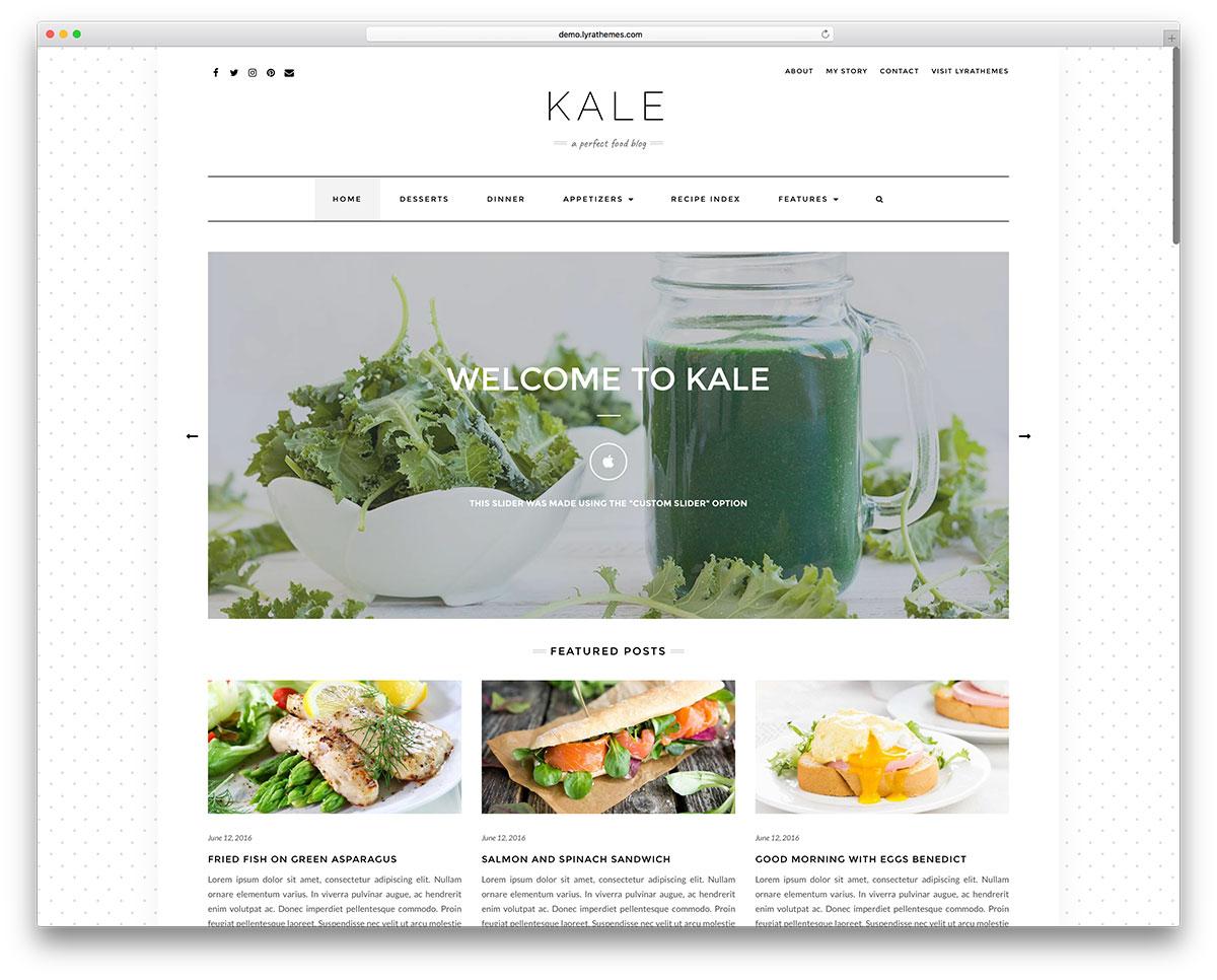 Food Blog Website Design