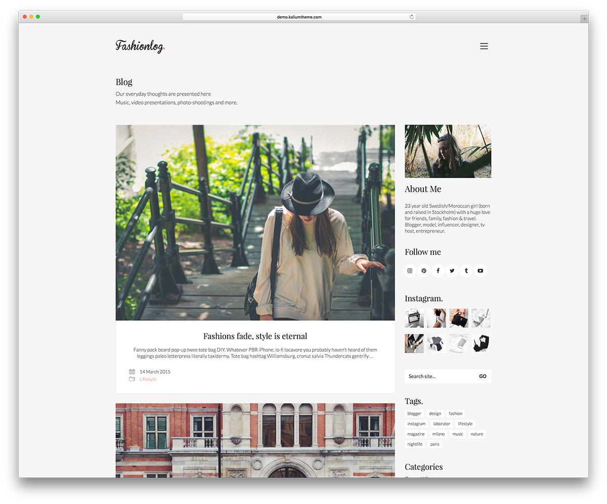 63 Best Personal Blog Wordpress Themes 2020 Colorlib