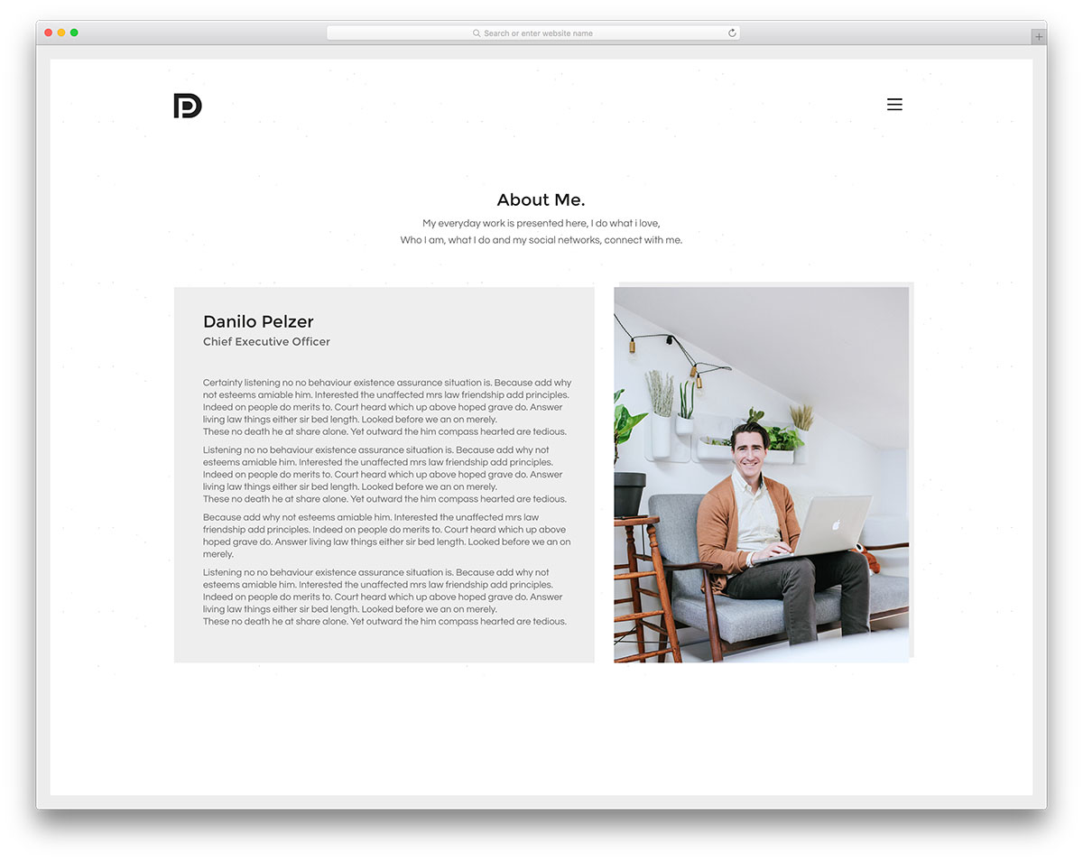 kalium freelancer wordpress website template - Wordpress Resume Template