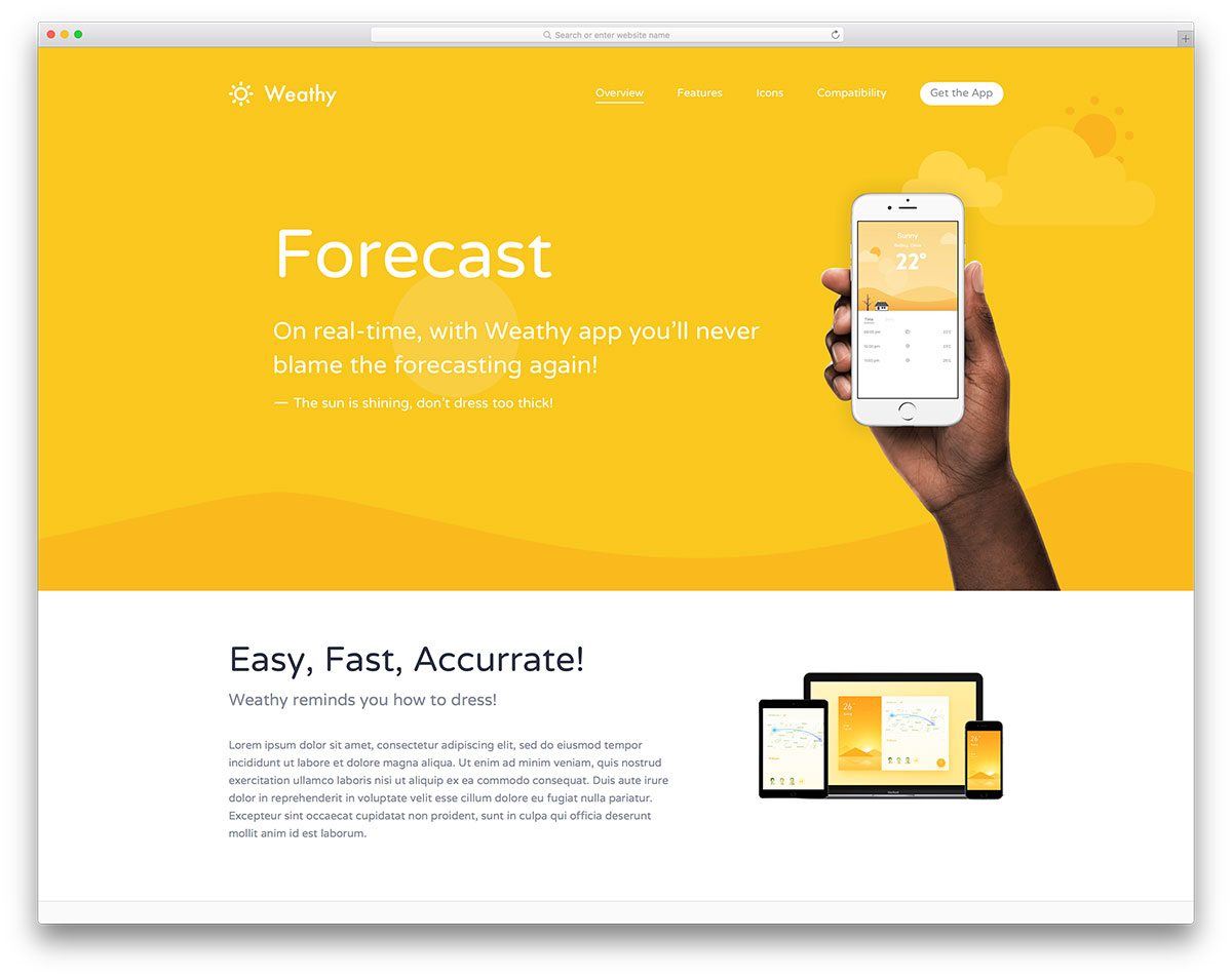 40 best landing page wordpress themes for apps products for Wordpress squeeze page template