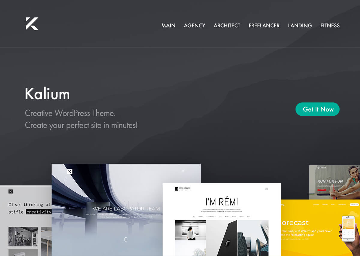 wordpress theme with multiple page templates - kalium 2 0 3 1 creative theme for professionals nulled