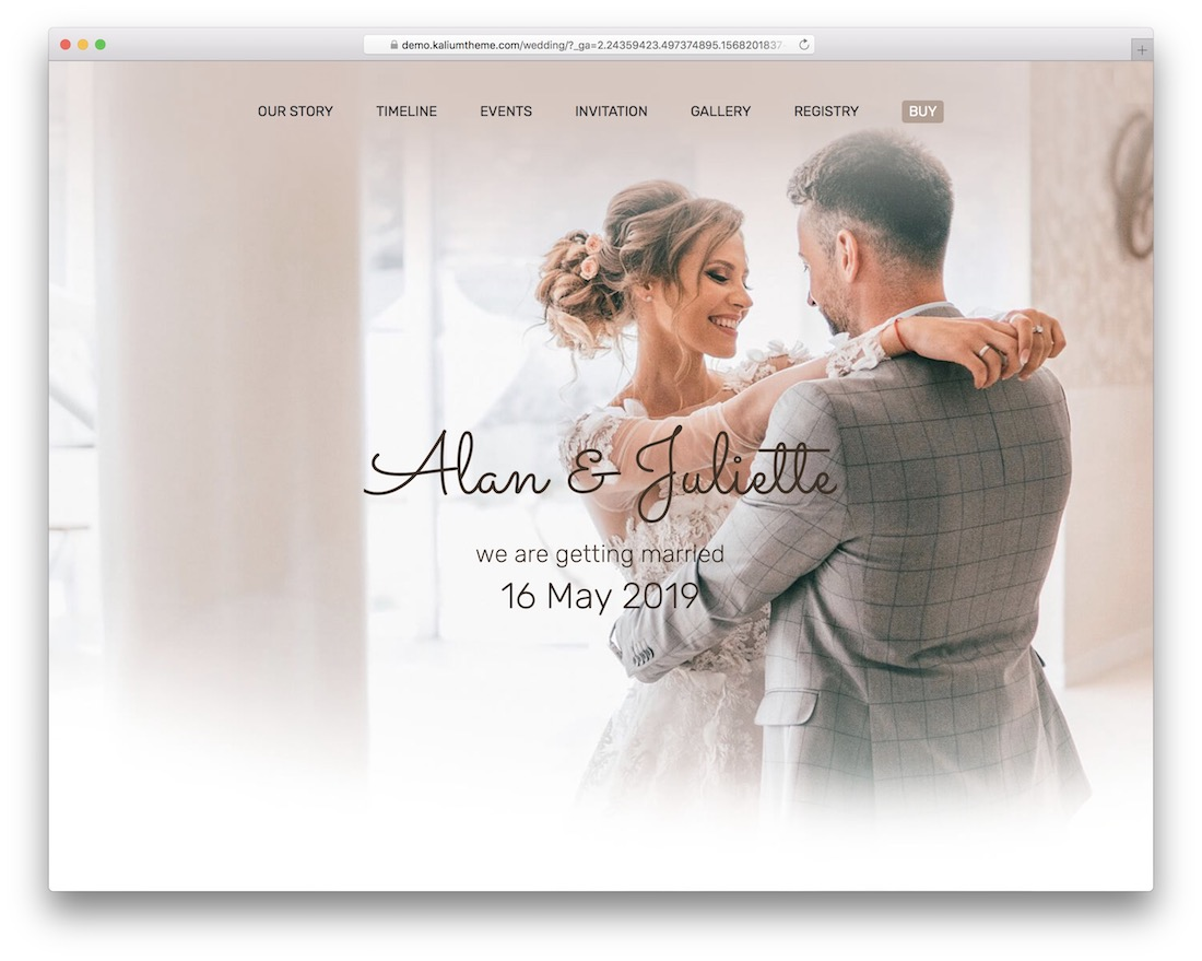 kalium wordpress wedding theme
