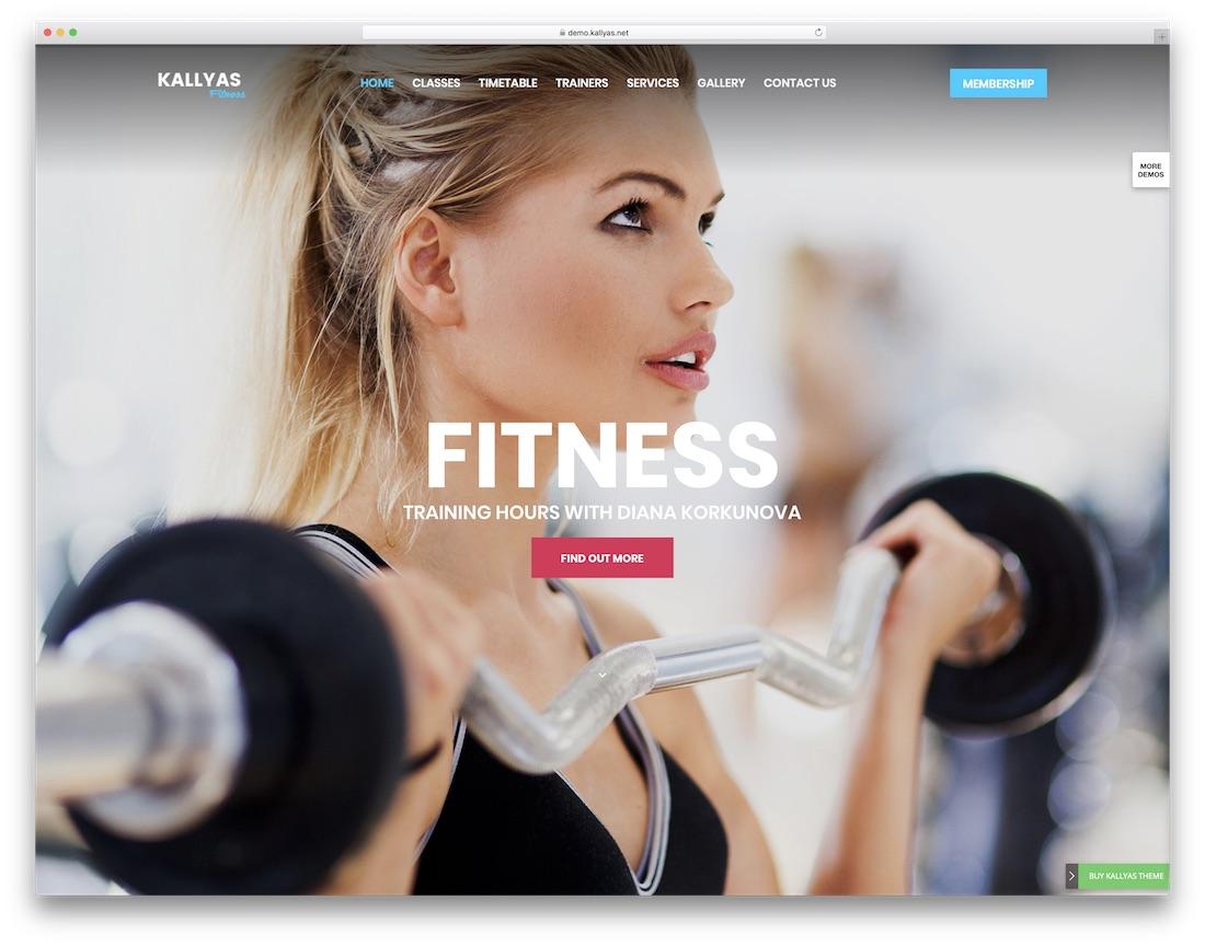 kallyas responsive wordpress sports theme
