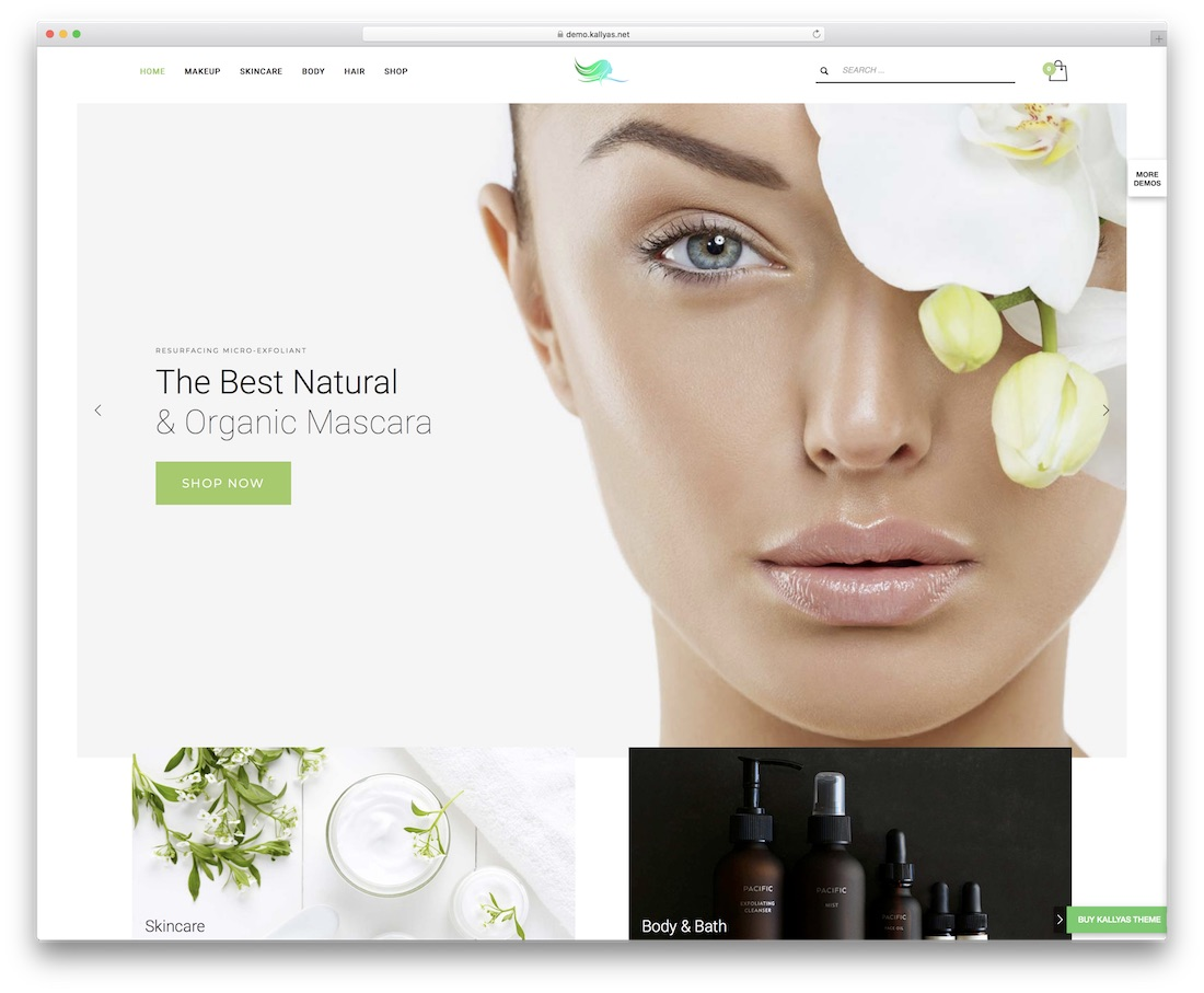 kallyas spa beauty salon wordpress theme