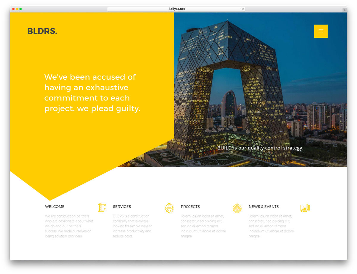 Kallyas Is WordPress Of Multiple Purposes. It Provides Many Homepages And  Demos To Start With. It Even Includes One Dedicated Only To Architecture.