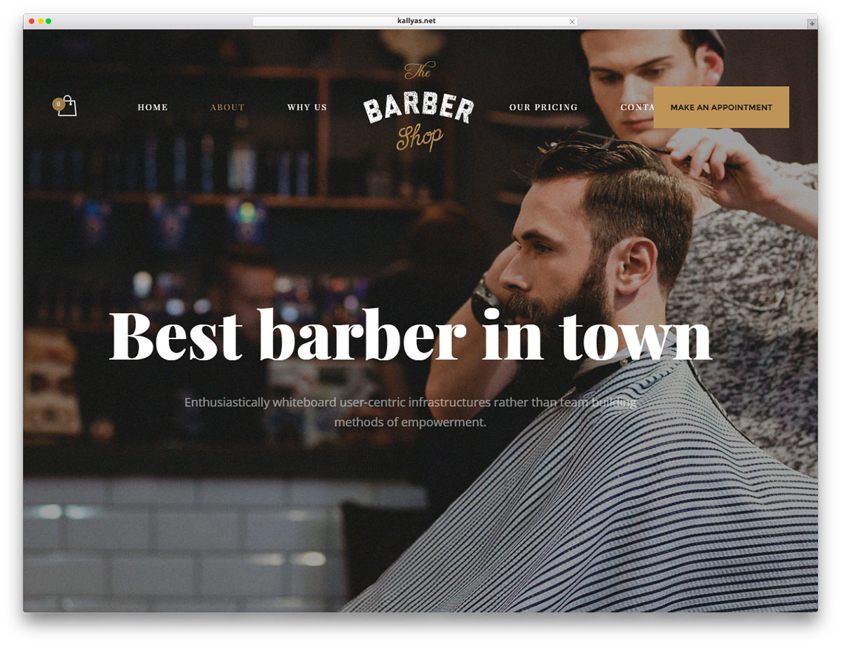 15 hair salon and barber shop wordpress themes 2017 colorlib kallyas is a classy and responsive wordpress creative multipurpose website theme kallyas is a powerful platform for putting together beautiful websites urmus Images