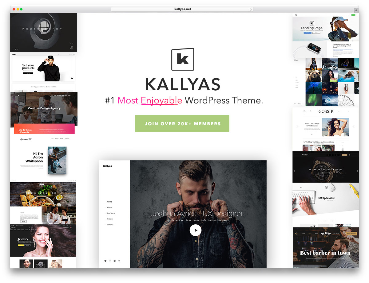 30 best vcard wordpress themes 2017 for your online resume colorlib kallyas is a sleek and responsive wordpress creative multipurpose website theme kallyas is an intuitive framework for developing engaging websites out